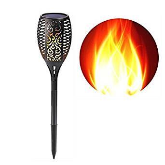 LIGHTEU, Solar Gartenleuchte Solar Taschenlampe leuchtet wasserdichte Flackernde Flammen